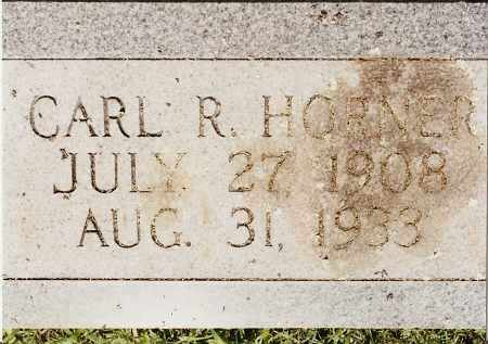 HORNER, CARL R - Johnson County, Arkansas | CARL R HORNER - Arkansas Gravestone Photos