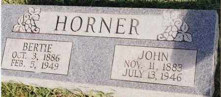 HORNER, BERTIE - Johnson County, Arkansas | BERTIE HORNER - Arkansas Gravestone Photos