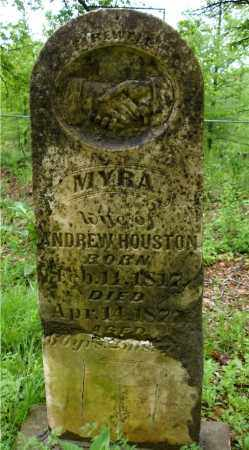 HOUSTON, MYRA - Johnson County, Arkansas | MYRA HOUSTON - Arkansas Gravestone Photos