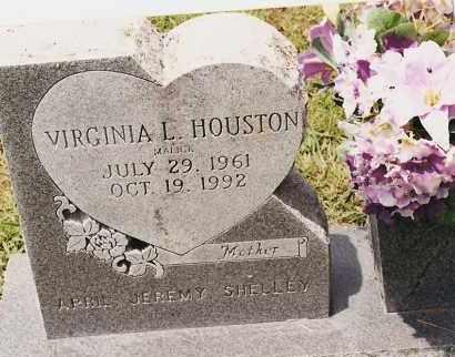 HOUSTON, VIRGINIA L - Johnson County, Arkansas   VIRGINIA L HOUSTON - Arkansas Gravestone Photos