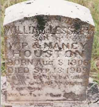 HOUSTON, WILLIAM LESSLEY - Johnson County, Arkansas | WILLIAM LESSLEY HOUSTON - Arkansas Gravestone Photos