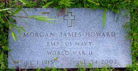 HOWARD  (VETERAN WWII), MORGAN JAMES - Johnson County, Arkansas | MORGAN JAMES HOWARD  (VETERAN WWII) - Arkansas Gravestone Photos