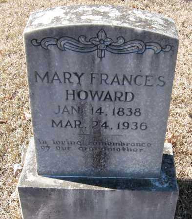 HOWARD, MARY FRANCES - Johnson County, Arkansas | MARY FRANCES HOWARD - Arkansas Gravestone Photos