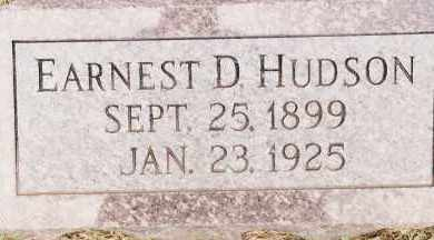 HUDSON, EARNEST D - Johnson County, Arkansas | EARNEST D HUDSON - Arkansas Gravestone Photos
