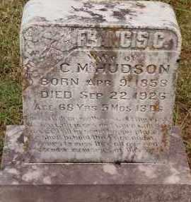 HUDSON, FRANCIS C - Johnson County, Arkansas | FRANCIS C HUDSON - Arkansas Gravestone Photos
