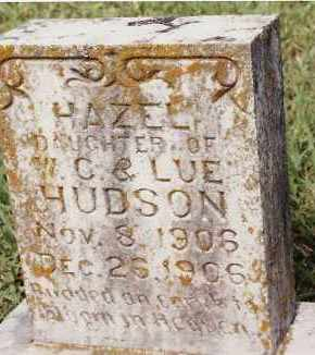 HUDSON, HAZEL - Johnson County, Arkansas | HAZEL HUDSON - Arkansas Gravestone Photos