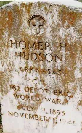 HUDSON (VETERAN WWI), HOMER H - Johnson County, Arkansas | HOMER H HUDSON (VETERAN WWI) - Arkansas Gravestone Photos