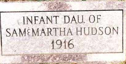 HUDSON, INFANT DAUGHTER - Johnson County, Arkansas | INFANT DAUGHTER HUDSON - Arkansas Gravestone Photos