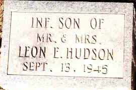 HUDSON, INFANT SON - Johnson County, Arkansas | INFANT SON HUDSON - Arkansas Gravestone Photos