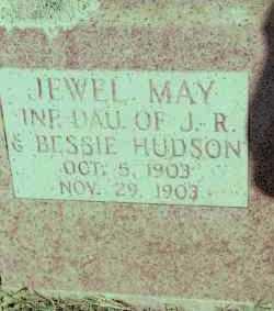 HUDSON, JEWEL MAY - Johnson County, Arkansas | JEWEL MAY HUDSON - Arkansas Gravestone Photos