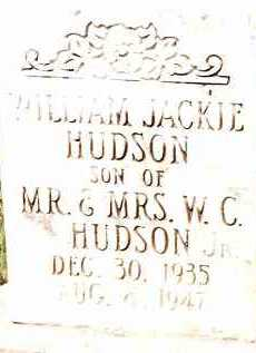 HUDSON, JR, WILLIAM JACKIE - Johnson County, Arkansas | WILLIAM JACKIE HUDSON, JR - Arkansas Gravestone Photos