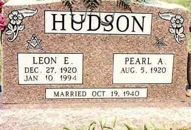 HUDSON, LEON E - Johnson County, Arkansas | LEON E HUDSON - Arkansas Gravestone Photos