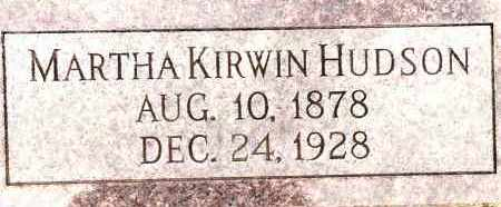 KIRWIN HUDSON, MARTHA - Johnson County, Arkansas | MARTHA KIRWIN HUDSON - Arkansas Gravestone Photos