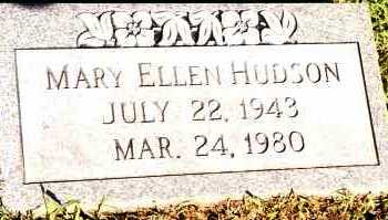 HUDSON, MARY ELLEN - Johnson County, Arkansas | MARY ELLEN HUDSON - Arkansas Gravestone Photos