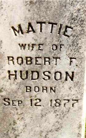 HUDSON, MATTIE - Johnson County, Arkansas | MATTIE HUDSON - Arkansas Gravestone Photos