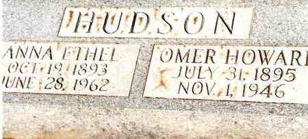 HUDSON, OMER HOWARD - Johnson County, Arkansas | OMER HOWARD HUDSON - Arkansas Gravestone Photos