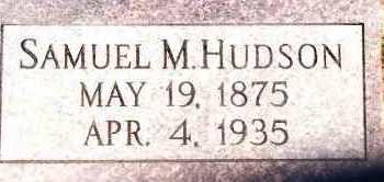 HUDSON, SAMUEL M - Johnson County, Arkansas | SAMUEL M HUDSON - Arkansas Gravestone Photos