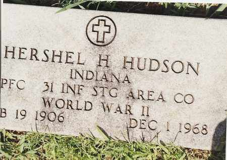 HUDSON (VETERAN WWII), HERSHEL H - Johnson County, Arkansas | HERSHEL H HUDSON (VETERAN WWII) - Arkansas Gravestone Photos