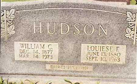 HUDSON, LOUIESE F - Johnson County, Arkansas | LOUIESE F HUDSON - Arkansas Gravestone Photos