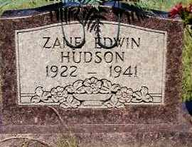 HUDSON, ZANE EDWIN - Johnson County, Arkansas | ZANE EDWIN HUDSON - Arkansas Gravestone Photos