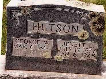 HUTSON, GEORGE W - Johnson County, Arkansas | GEORGE W HUTSON - Arkansas Gravestone Photos