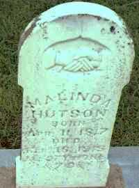 HUTSON, MALINDA - Johnson County, Arkansas | MALINDA HUTSON - Arkansas Gravestone Photos