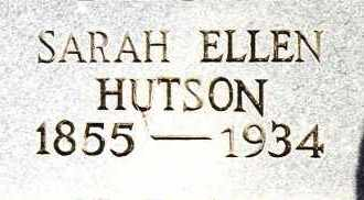 HUTSON, SARAH ELLEN - Johnson County, Arkansas | SARAH ELLEN HUTSON - Arkansas Gravestone Photos