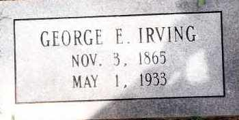 IRVING, GEORGE E - Johnson County, Arkansas | GEORGE E IRVING - Arkansas Gravestone Photos