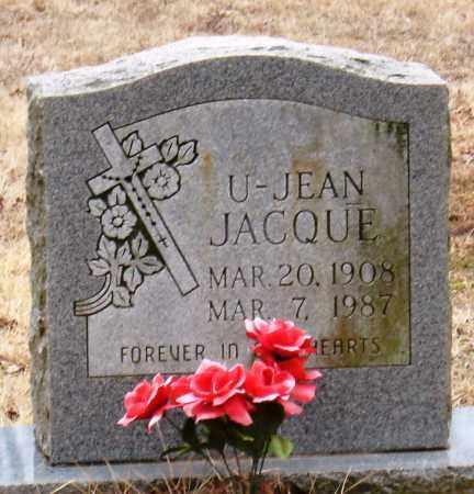 JACQUE, U-JEAN - Johnson County, Arkansas | U-JEAN JACQUE - Arkansas Gravestone Photos