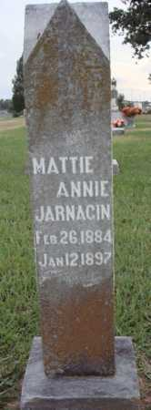 JARNAGIN, MATTIE ANNIE - Johnson County, Arkansas | MATTIE ANNIE JARNAGIN - Arkansas Gravestone Photos