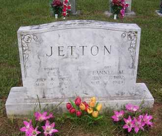 WALLACE JETTON, FANNYE CATTIE MARY - Johnson County, Arkansas | FANNYE CATTIE MARY WALLACE JETTON - Arkansas Gravestone Photos