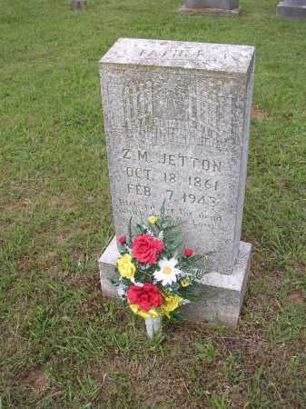 JETTON, Z M - Johnson County, Arkansas | Z M JETTON - Arkansas Gravestone Photos