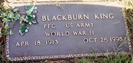 KING (VETERAN WWII), BLACKBURN - Johnson County, Arkansas | BLACKBURN KING (VETERAN WWII) - Arkansas Gravestone Photos