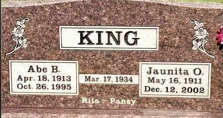 KING, JAUNITA O - Johnson County, Arkansas | JAUNITA O KING - Arkansas Gravestone Photos