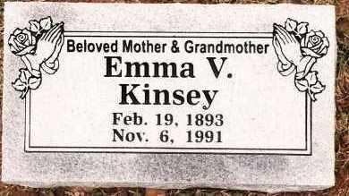 KINSEY, EMMA V - Johnson County, Arkansas | EMMA V KINSEY - Arkansas Gravestone Photos