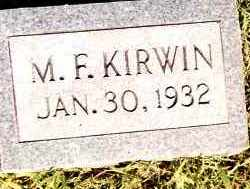 KIRWIN, M F - Johnson County, Arkansas | M F KIRWIN - Arkansas Gravestone Photos