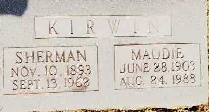 KIRWIN, SHERMAN - Johnson County, Arkansas | SHERMAN KIRWIN - Arkansas Gravestone Photos