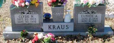 KRAUS, EUNICE A - Johnson County, Arkansas | EUNICE A KRAUS - Arkansas Gravestone Photos