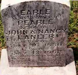 LANEER, EARLE - Johnson County, Arkansas | EARLE LANEER - Arkansas Gravestone Photos