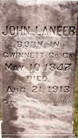 LANEER, JOHN - Johnson County, Arkansas | JOHN LANEER - Arkansas Gravestone Photos