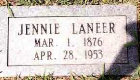 LANEER, JENNIE - Johnson County, Arkansas | JENNIE LANEER - Arkansas Gravestone Photos