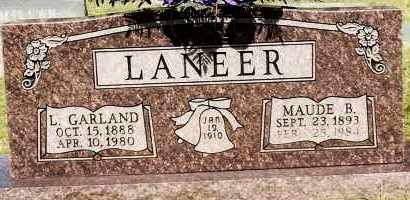 LANEER, LUTHER GARLAND - Johnson County, Arkansas | LUTHER GARLAND LANEER - Arkansas Gravestone Photos
