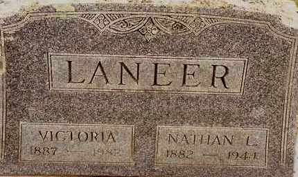 LANEER, VICTORIA - Johnson County, Arkansas | VICTORIA LANEER - Arkansas Gravestone Photos