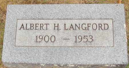 LANGFORD, ALBERT H. - Johnson County, Arkansas | ALBERT H. LANGFORD - Arkansas Gravestone Photos