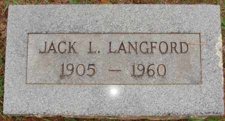LANGFORD, JACK L. - Johnson County, Arkansas | JACK L. LANGFORD - Arkansas Gravestone Photos