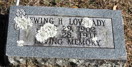 LOVELADY, EWING H - Johnson County, Arkansas | EWING H LOVELADY - Arkansas Gravestone Photos