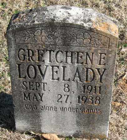 LOVELADY, GRETCHEN E - Johnson County, Arkansas | GRETCHEN E LOVELADY - Arkansas Gravestone Photos