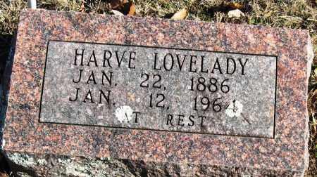 LOVELADY, HARVE - Johnson County, Arkansas | HARVE LOVELADY - Arkansas Gravestone Photos