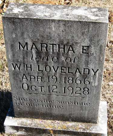 LOVELADY, MARTHA E - Johnson County, Arkansas | MARTHA E LOVELADY - Arkansas Gravestone Photos