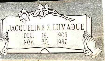 LUMADUE, JACQUELINE Z - Johnson County, Arkansas | JACQUELINE Z LUMADUE - Arkansas Gravestone Photos